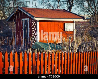 Allotment cabin Stockholm - Stock Image
