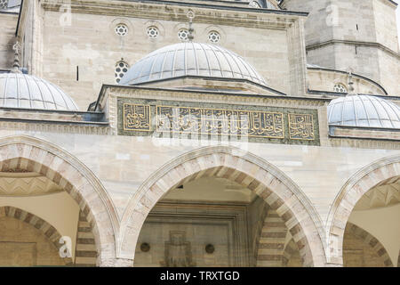 The Suleymaniye Mosque is the largest mosque in the city, and one of the best-known sights of Istanbul. - Stock Image