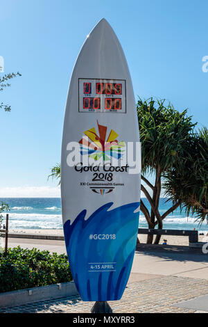 Surfers Paradise, Gold Coast, Australia, the countries premier tourist destination, hosting the 21st Commonwealth Games, The Gold Coast's latest touri - Stock Image
