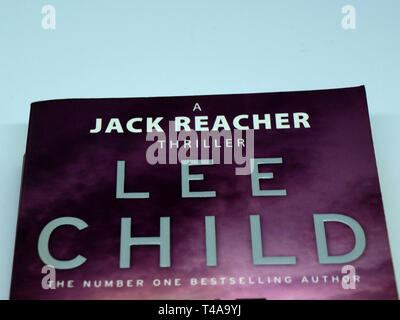 Cover of a Jack Reacher thriller, written by Lee Child - Stock Image