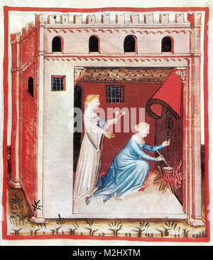 'Tacuinum Sanitatis', Wheat Soup - Stock Image