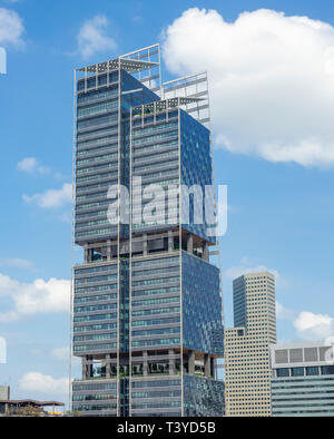 South Beach office tower in Singapore - Stock Image