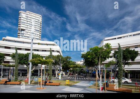 Bauhaus architecture, Dizengoff Square, Tel Aviv, Israel - Stock Image