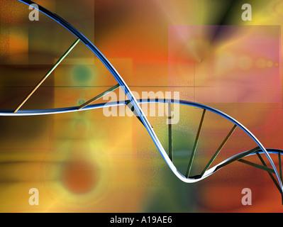 DNA spiral - Stock Image