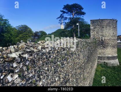 Canterbury City Walls, Kent, England, UK - Stock Image