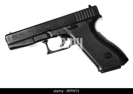 Replica Glock 17 9mm pistol. - Stock Image