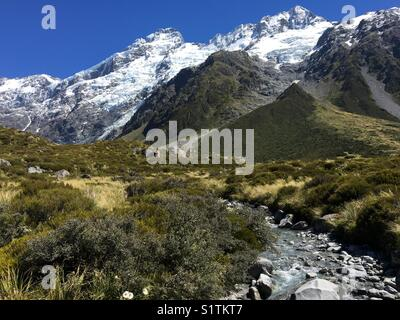 New Zealand's Hooker Valley at Mount Cook - Stock Image