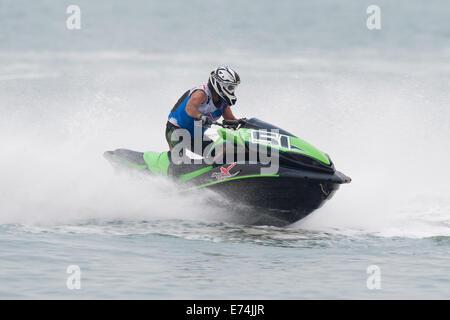 Stokes Bay, Hampshire, UK. 6th Sep, 2014. P1 Superstock final round. Stokes Bay, Gosport, Hampshire. AquaX Jim Goodchild - Stock Image