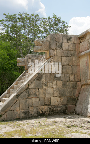 The Platform of Venus, Chichen Itza Archaeological Site, Chichen Itza, Yucatan, Mexico - Stock Image