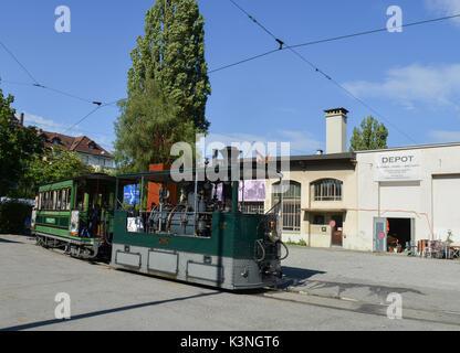 Bern Steam tram at Brunnadernstrasse Depot -2 - Stock Image
