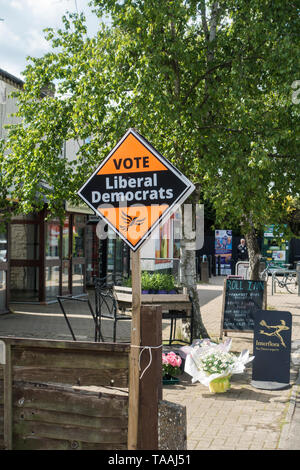 Vote for Liberal Democrats sign for Euro MEP elections Milton Cambridge May 2019 - Stock Image
