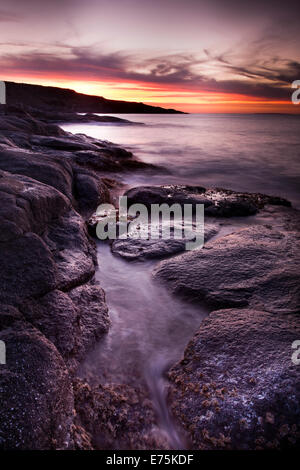 Rocky shoreline, Eyre Peninsula South Australia - Stock Image