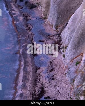 Europa, Deutschland, Mecklenburg-Vorpommern, Insel Rügen, Nationalpark Jasmund, UNESCO-Weltnaturerbe Europäische Buchenwälder, Blick von oben auf Stei - Stock Image