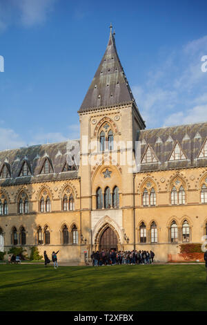 A front view of the Oxford University Museum of Natural History - Stock Image