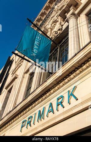 Primark's flagship store on Oxford Street, London - Stock Image