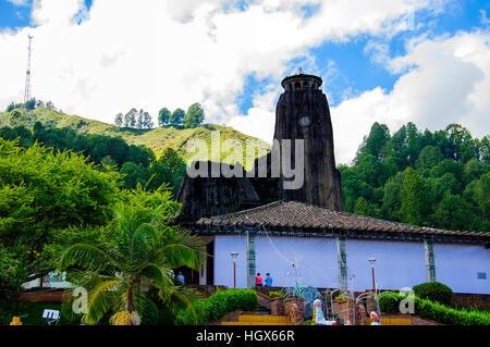 Rock Temple El Penol in Medellin, Colombia - Stock Image