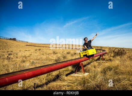 Long Tom Toboggan at Misty Mountain in Mpumalanga - Stock Image