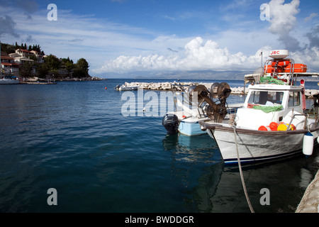 Blue sea harbour - Stock Image