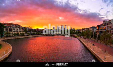 Claisebrook Cove in East Perth - Stock Image