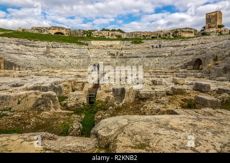 Della Neapolis Archeological Park, Syracuse, Italy - Stock Image