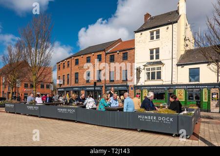 Humber Dock,Tavern,Bar and Grill,Kingston upon Humber,England - Stock Image