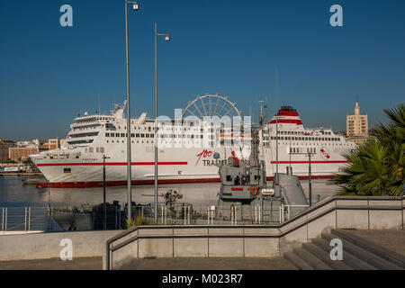 MALAGA, ANDALUSIA / SPAIN - OCTOBER 05 2017: CRUISE SHIP - Stock Image