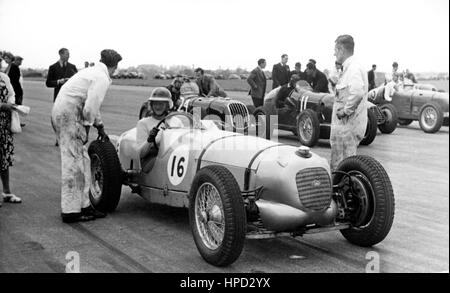1950s Riley, Alta and ERA Start Silverstone - Stock Image