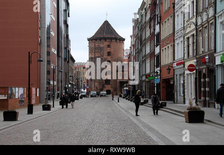 Granary Island area of Gdansk - Stock Image