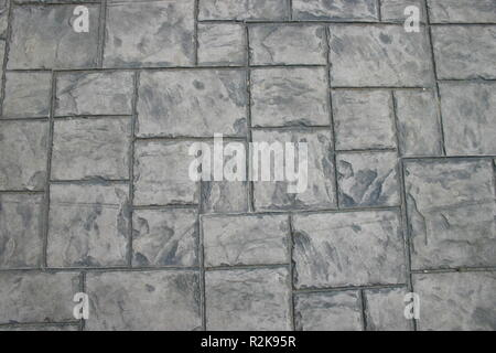 A shot of a stone pavement flooring background - Stock Image