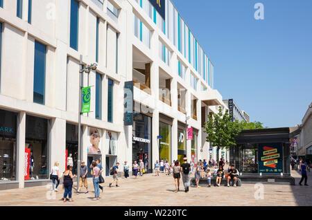 Sheffield the moor shopping street Sheffield - Stock Image