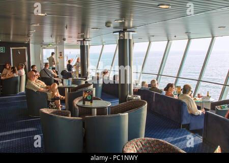 Ferry in Balearic Islands - Stock Image