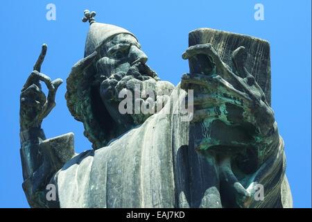 Famous bronze statue of bishop in Croatia, Europe - Stock Image