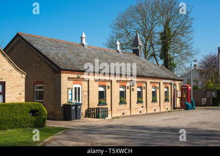 Wicken Village hall close to Wicken Fen, Cambridgeshire, England, UK. - Stock Image