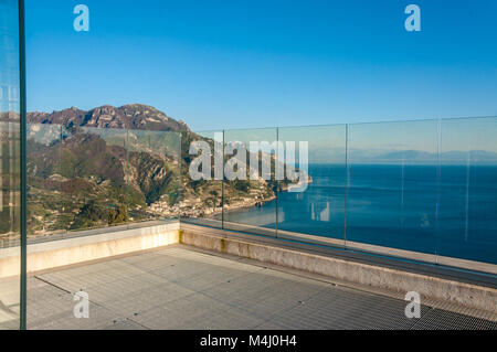 Panorama, Tower of Villa Rufolo - Stock Image