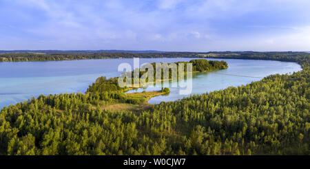 Woerthsee Lake, Bavaria, Germany - Stock Image
