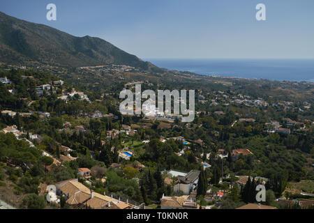 View from Mijas Pueblo. Málaga province, Spain. - Stock Image