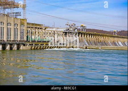 Hydroelectric Dam Power Station - Stock Image