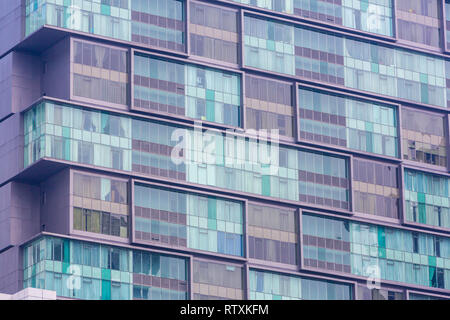 Modern Apartment Building in Central Kuala Lumpur, Malaysia. - Stock Image