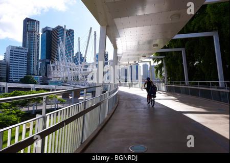 Kurilpa Bridge Brisbane Australia - Stock Image