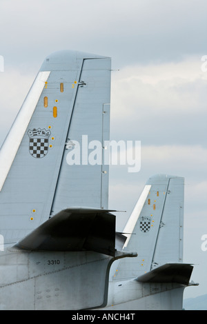 Croatian Air Force An-32B transport aircraft fleet - Stock Image