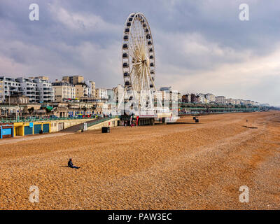 Brighton Beach, winter, Sussex, England, UK. - Stock Image