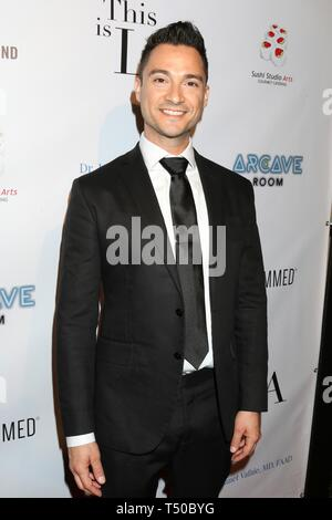 Los Angeles, CA, USA. 18th Apr, 2019. Adam Kruger at arrivals for THIS IS L.A. Premiere Party, Yamashiro Hollywood, Los Angeles, CA April 18, 2019. Credit: Priscilla Grant/Everett Collection/Alamy Live News - Stock Image