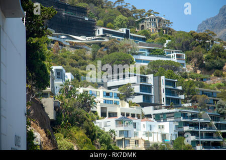 Expensive Hillside Homes in Clifton, Cape Town - South Africa - Stock Image