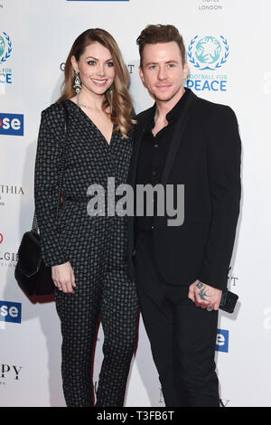 London, UK. 08th Apr, 2019. LONDON, UK. April 08, 2019: Danny Jones arriving for the Football for Peace initiative dinner by Global Gift Foundation at the Corinthia Hotel, London. Picture: Steve Vas/Featureflash Credit: Paul Smith/Alamy Live News - Stock Image