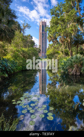 Bok Tower Gardens also known as Bok Mountain Lake Sanctuary and Singing Tower in Lakes Wales Polk County Florida in the United States - Stock Image