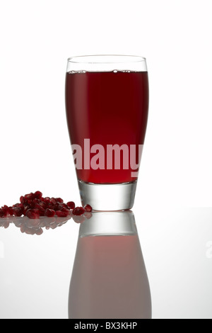 Pomegranate Juice with Seeds - Stock Image