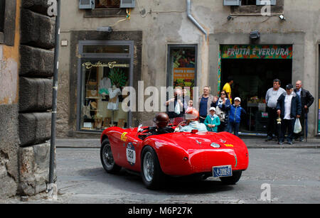 Viterbo, Italy. 20th, May 2017.  Crew composed by Theo Bean, Jr. and Ann Bean from United States with their model - Stock Image