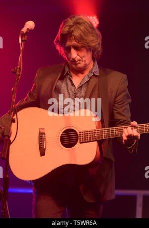 Steve Knightley performing at the Larmer Tree Festival near Salisbury, Wiltshire, England, UK. July 18, 2015, - Stock Image