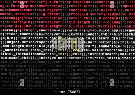 Egypt flag  is depicted on the screen with the program code. The concept of modern technology and site development. - Stock Image