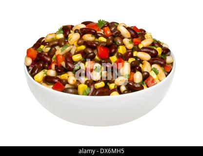 A bowl of bean salad - Stock Image